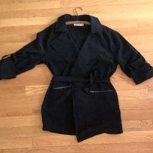 Just Fab Belted Blazer with adjustable sleeves
